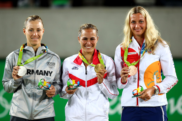 with Angelique Kerber and Monica Puig