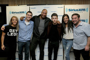 (L-R) Jenna Marbles, Rich Davis, Stanley T, Nick Jonas, Nicole Ryan and Ryan Sampson attend Hits 1's The Morning Mash Up Broadcast from the SiriusXM Studios on February 10, 2015 in Los Angeles, California.