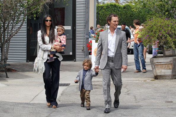 """Camila Alves Matthew McConaughey, wife Camila Alves and their two children Levi and Vida are spotted leaving a Church after a Sunday service. McConaughey newest film """"Bernie"""", co-starring Jack Black, will be premiering at the 2011 Los Angeles Film Festival."""