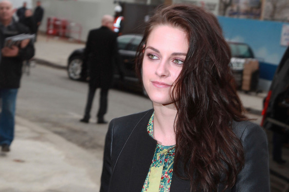 Kristen Stewart attends the Balenciaga Fall/Winter Ready-To-Wear collection show held at Quai Javel in Paris, France.