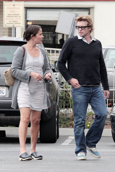 Simon Baker and Rebecca Rigg at Wertz Brothers in Santa ...