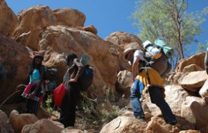 25 men and women climbed to Mountain Brandberg in Namibia from 18-21 April to advocate against gender-based violence (GBV). Credit UNAIDS