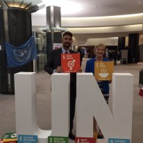 MEP LindaMcAvan and MEP Afzal Khan Photo: UNDP Brussels