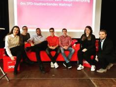 Neujahrsempfang SPD Waltrop 2018 Jusos rotes Sofa