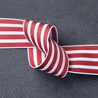 Cherry Cobbler 1-1/4 Striped Grosgrain Ribbon by Stampin' Up!