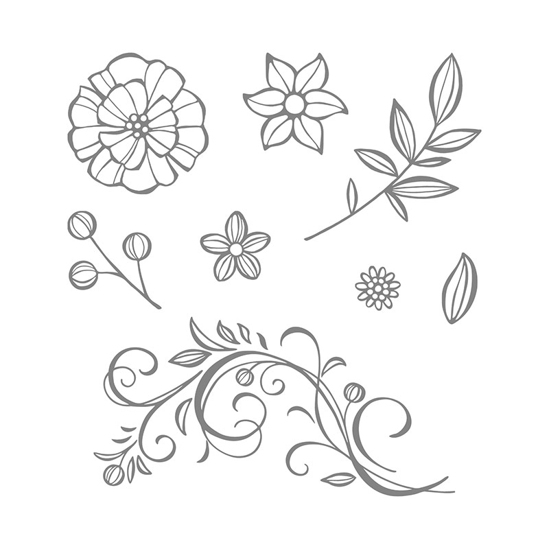Falling Flowers Clear Mount Stamp Set By Stampin Up