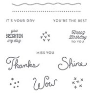 Sunburst Sayings Clear-Mount Stamp Set by Stampin' Up!