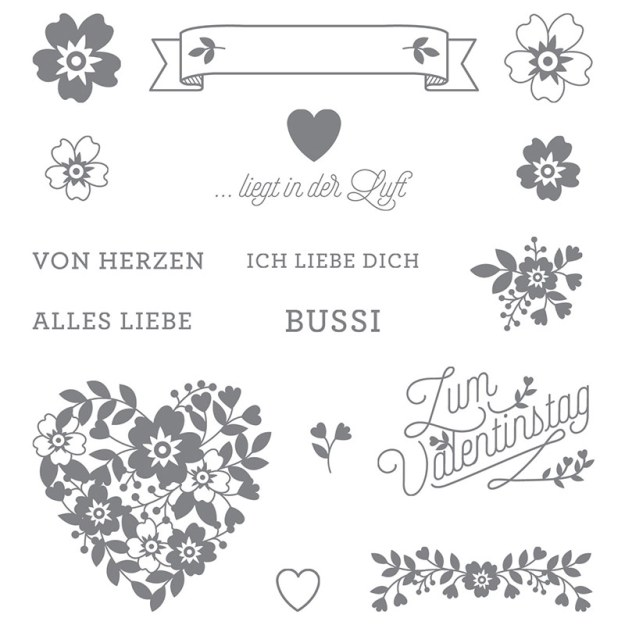 141056 Stempelset Blüten der Liebe Image