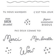 Souhaits rayonnants Clear-Mount Stamp Set (French) by Stampin' Up!