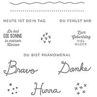 Sonnengruß Clear-Mont Stamp Set (allemand) par Stampin 'Up!