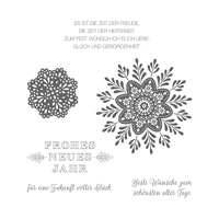 Wintermedaillons Clear-Mount Stamp Set (German)