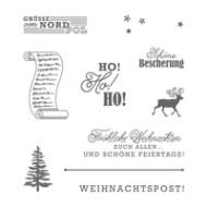 Grüße vom Weihnachtsmann Clear-Mount Stamp Set (German)