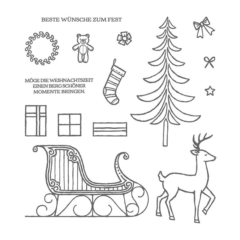 Weihnachtsschlitten – Kleinerhase-Stempelnase