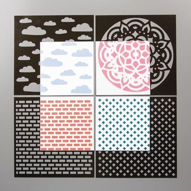 144103 Dekoschablonen Muster Mix Image