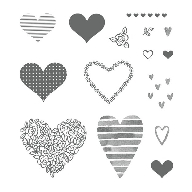 145769 Stempelset Heart Happiness Image
