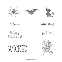 150547 Wonderfully Wicked Cling Stamp Set