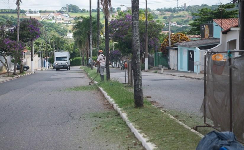LIMPEZA DO MATO É REALIZADA  NA AVENIDA SÃO CARLOS