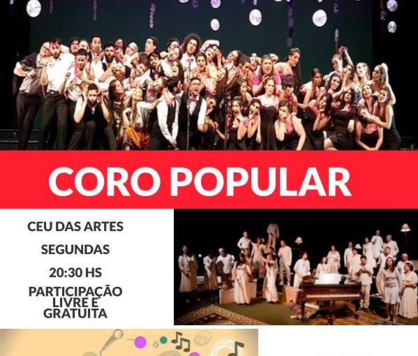 CEU DAS ARTES ESTÁ COM INSCRIÇÕES ABERTAS PARA AULAS GRATUITAS DE CANTO POPULAR