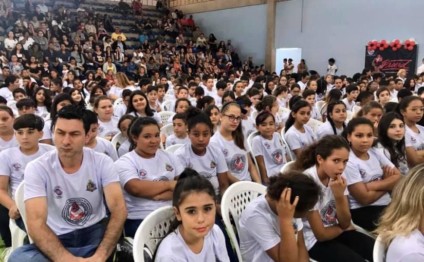 CERIMÔNIA DE FORMATURA DO PROERD REUNIU MAIS DE 450 ALUNOS  DE SEIS ESCOLAS DA REDE MUNICIPAL DE ENSINO DE TATUÍ