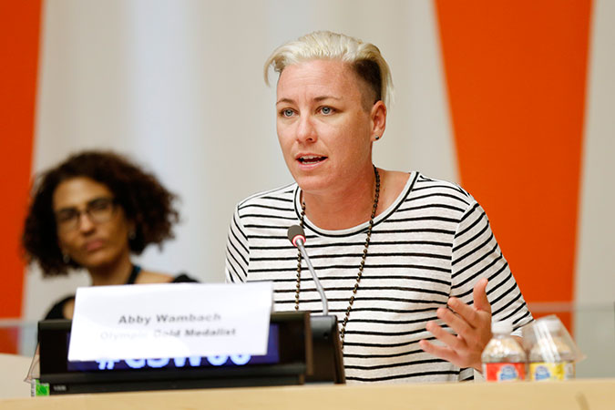 Abby Wambach. Photo: UN Women/Ryan Brown