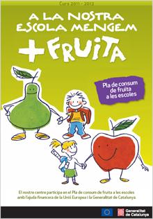 Cartell del pla de consum de fruita a les escoles