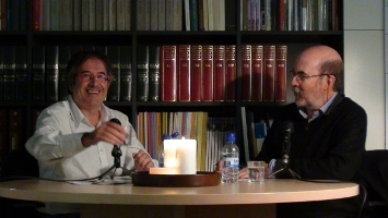 Jordi Ausàs, durant l'entrevista del dia 28 d'octubre de 2011