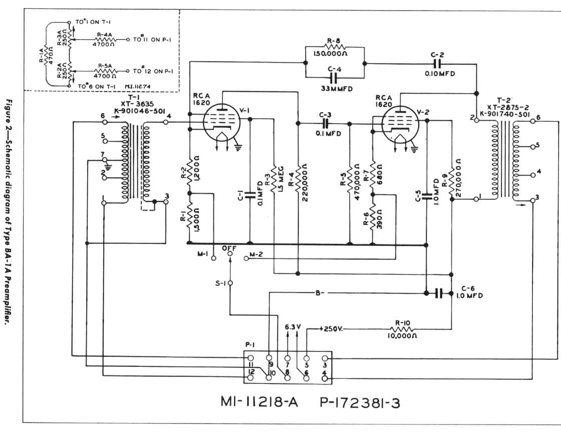 Rca Ba 1a Two Stage Preamp Schematic