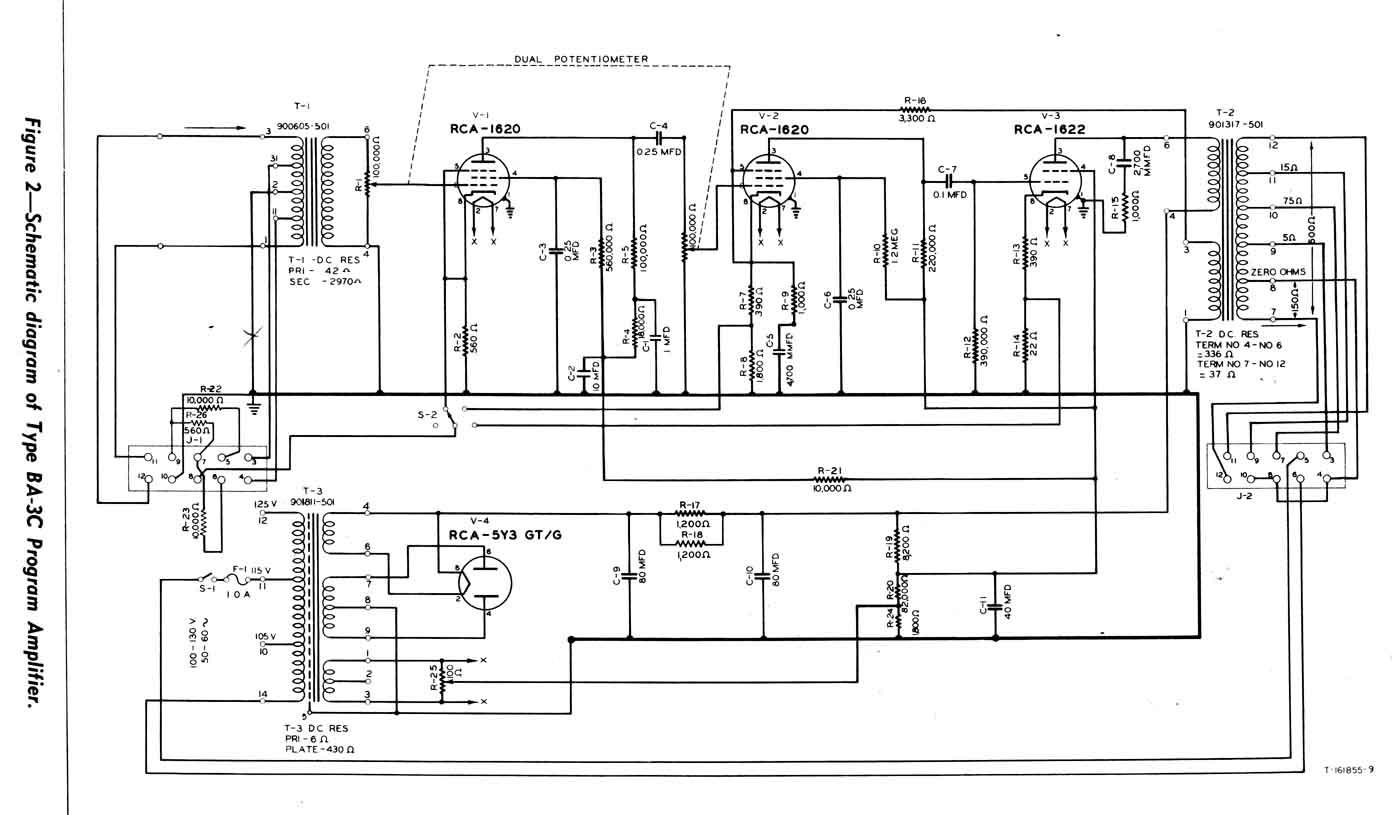Rca Ba 3c Program Amp Schematic