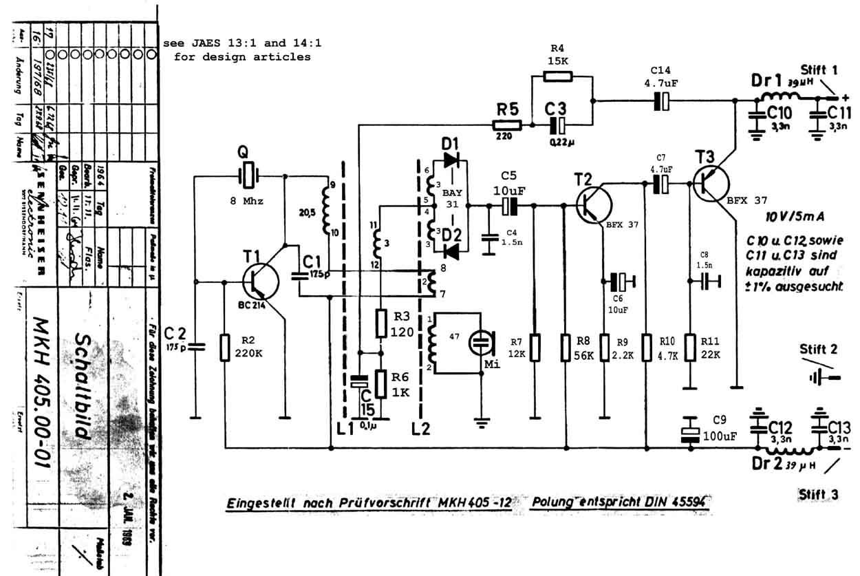 Sennheiser Mkh 405 Microphone Schematic