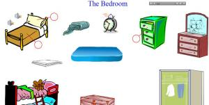 Bedroom Vocabulary Practice English Related To Furniture