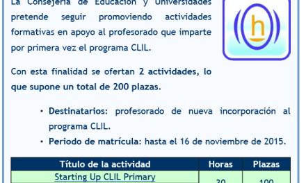 Oferta de cursos CLIL de teleformación (Nueva incorporación)