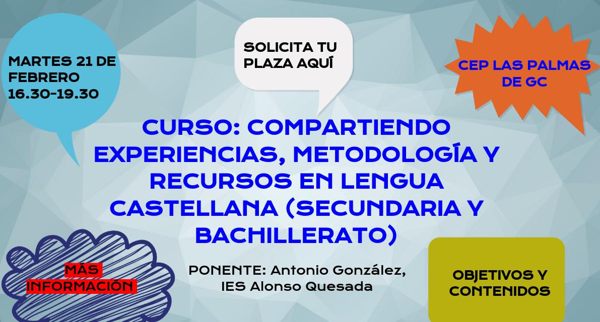 Compartiendo en Lengua Castellana y Literatura (Secundaria y Bachillerato)
