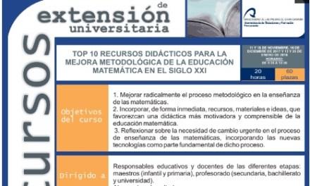 TOP 10 RECURSOS DIDÁCTICOS PARA LA MEJORA METODOLÓGICA DE LA EDUCACIÓN MATEMÁTICA EN EL SIGLO XX
