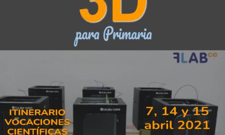 Introducción al diseño y la impresión 3D en Primaria