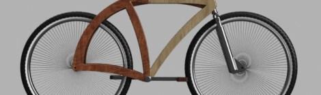 """Prototipo de bicicleta """"I FEEL WOOD"""""""