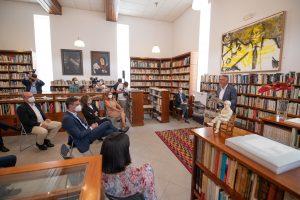 Un momento de la presentación del centenario de José Saramago.