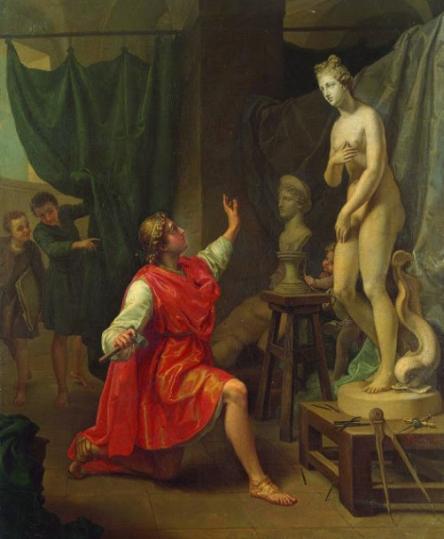 Laurent Pecheux: Galatea and Pygmalion, 1780, source: Wikimedia Commons