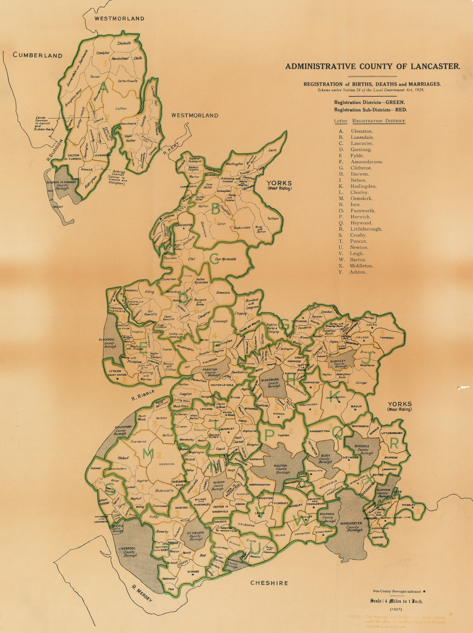Lancashire County Council  Environment Directorate  Old Maps Lancashire Administrative County 1929 37