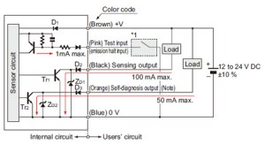 Robust Photoelectric Sensor RX IO Circuit and Wiring