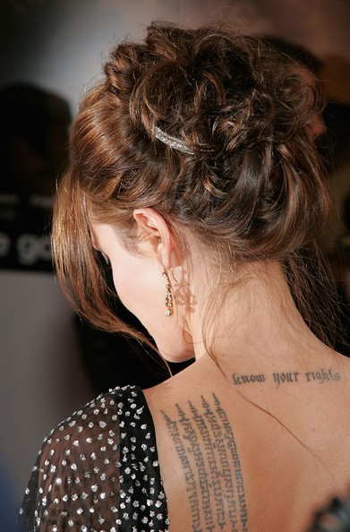 Angelina Jolie in Celebrity Tattoos