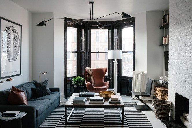 For A Brooklyn Brownstone Apartment Designer Dan Mazzarini Melded Historic Architecture And Modern Masculine
