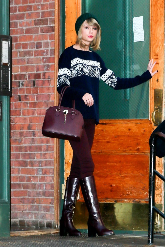 Taylor Swift Leather Tote Leather Tote Lookbook