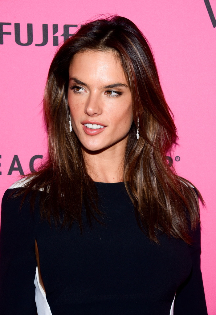 Alessandra Ambrosio Long Center Part Lookbook StyleBistro