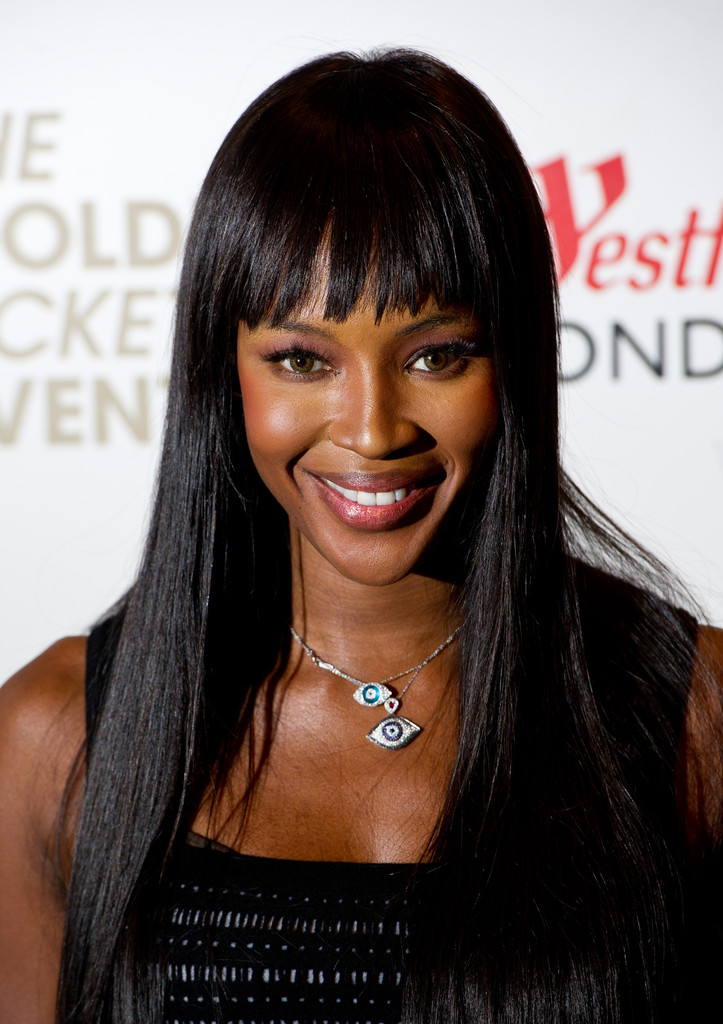 More Pics Of Naomi Campbell Long Straight Cut With Bangs