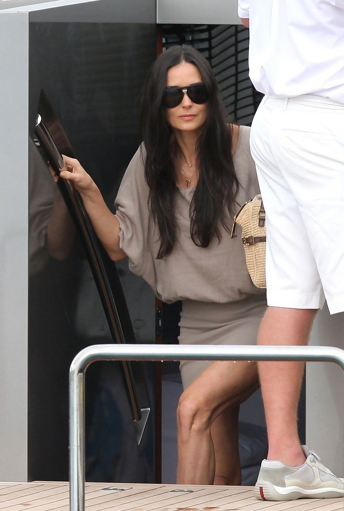 Demi Moore In Ashton Kutcher And Demi Moore On A Yacht