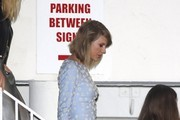 Taylor Swift  is seen leaving the Beverly Hilton hotel.NON EXCLUSIVE Feb 7, 2015.