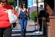 Lucy Hale is seen running errands in Los Angeles.