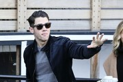 Singer Nick Jonas is pictured arriving at the ITV studios for a guest appearance on 'Loose Women'.