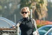 Reese Witherspoon is seen out and about after getting hot cocoa for her son Tennessee James Toth.