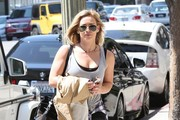 Singer and actress Hilary Duff is spotted out and about in West Hollywood, California on September 3, 2014. It is being reported that Hilary's still untitled comeback album will be released on October 18th.